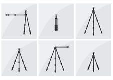 Σύνολο τρίποδων φωτογράφων Στοκ εικόνα με δικαίωμα ελεύθερης χρήσης