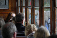 Σύνολο τραίνων Soller των επιβατών Στοκ εικόνα με δικαίωμα ελεύθερης χρήσης