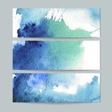 Σύνολο τριών εμβλημάτων watercolor διανυσματική απεικόνιση