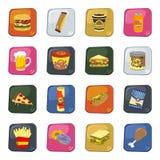 Σύνολο τροφίμων και ποτών διανυσματική απεικόνιση