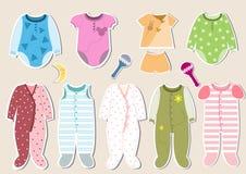 Σύνολο των ενδυμάτων μωρών Στοκ εικόνα με δικαίωμα ελεύθερης χρήσης