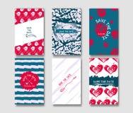 Σύνολο των προτύπων καρτών grunge Στοκ Εικόνες