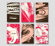 Σύνολο των προτύπων καρτών grunge Στοκ φωτογραφίες με δικαίωμα ελεύθερης χρήσης