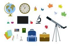 Σύνολο των σχολικών ιδιοτήτων Στοκ Φωτογραφία