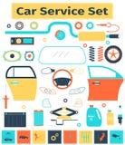 Σύνολο υπηρεσιών αυτοκινήτων Στοκ Εικόνες
