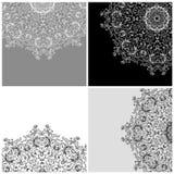 Σύνολο υποβάθρων arabesque για το σχέδιό σας Στοκ φωτογραφία με δικαίωμα ελεύθερης χρήσης