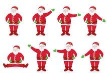 Σύνολο υπόδειξης των προτάσεων Santa ελεύθερη απεικόνιση δικαιώματος