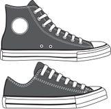 Σύνολο υψηλών και χαμηλών πάνινων παπουτσιών που σύρονται διάνυσμα Στοκ φωτογραφίες με δικαίωμα ελεύθερης χρήσης
