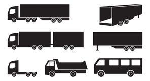 Σύνολο φορτηγών Στοκ Εικόνες