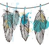 Σύνολο φτερών ακουαρελών Στοκ φωτογραφία με δικαίωμα ελεύθερης χρήσης