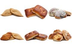 Σύνολο φωτογραφιών προϊόντων αρτοποιίας, που απομονώνεται στο λευκό Στοκ φωτογραφία με δικαίωμα ελεύθερης χρήσης