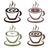 Σύνολο φλιτζανιών του καφέ με το θέμα του οικότροφου Στοκ Εικόνες