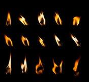 Σύνολο φλογών κεριών Στοκ Εικόνα