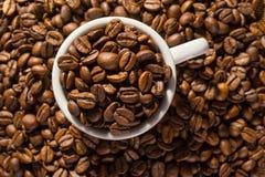 Σύνολο φλυτζανιών των μαύρων φασολιών καφέ Στοκ φωτογραφίες με δικαίωμα ελεύθερης χρήσης