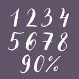 Σύνολο χέρι-εγγραφής αριθμών Στοκ φωτογραφία με δικαίωμα ελεύθερης χρήσης