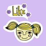 Σύνολο χαριτωμένου κοριτσιού κινούμενων σχεδίων Στοκ Εικόνες