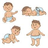 Σύνολο χαριτωμένων μωρών Στοκ εικόνες με δικαίωμα ελεύθερης χρήσης