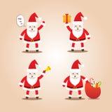 Σύνολο χαριτωμένων προτάσεων Santa Μορφές κινούμενων σχεδίων για τα Χριστούγεννα Στοκ φωτογραφία με δικαίωμα ελεύθερης χρήσης