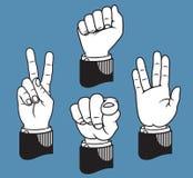 Σύνολο χειρονομιών χεριών βασισμένων στους κλασικούς δείκτες printer's Στοκ Εικόνες
