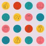 Σύνολο χεριού που σύρεται, doodle εικονίδια Στοκ εικόνα με δικαίωμα ελεύθερης χρήσης