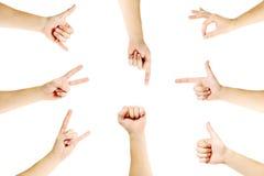 σύνολο χεριών χειρονομιώ&n Στοκ φωτογραφία με δικαίωμα ελεύθερης χρήσης