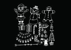Σύνολο Χριστουγέννων εικονιδίων και στοιχείων απεικόνιση αποθεμάτων