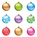 σύνολο Χριστουγέννων σφαιρών Στοκ φωτογραφίες με δικαίωμα ελεύθερης χρήσης