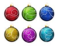 σύνολο Χριστουγέννων σφαιρών Στοκ εικόνα με δικαίωμα ελεύθερης χρήσης