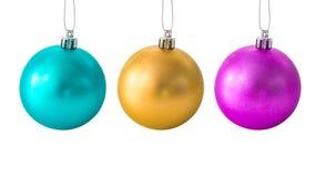 σύνολο Χριστουγέννων σφ&alph Στοκ Εικόνες