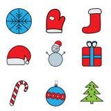 σύνολο Χριστουγέννων διανυσματική απεικόνιση