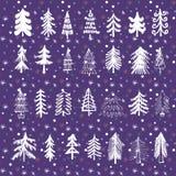 Σύνολο Χριστουγέννων trees1 Στοκ εικόνες με δικαίωμα ελεύθερης χρήσης