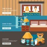 Σύνολο χρονικών εμβλημάτων ύπνου Στοκ εικόνα με δικαίωμα ελεύθερης χρήσης