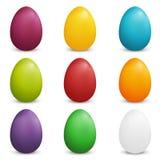 Σύνολο χρωματισμένων αυγών Πάσχας ελεύθερη απεικόνιση δικαιώματος