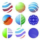 Σύνολο χρωματισμένων εικονιδίων που απομονώνονται Στοκ Εικόνα