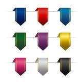 Σύνολο χρωματισμένων κάθετων κορδελλών διανυσματική απεικόνιση
