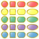 Σύνολο χρωματισμένων κουμπιών Ιστού Διανυσματική απεικόνιση