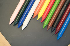 σύνολο χρωματισμένων κραγιονιών κεριών Στοκ φωτογραφία με δικαίωμα ελεύθερης χρήσης