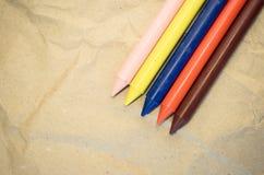 σύνολο χρωματισμένων κραγιονιών κεριών Στοκ φωτογραφίες με δικαίωμα ελεύθερης χρήσης