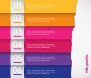 Σύνολο χρωματισμένων λωρίδων Στοκ Εικόνες