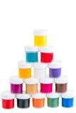 Σύνολο χρώματος γκουας μια πυραμίδα Στοκ Εικόνες