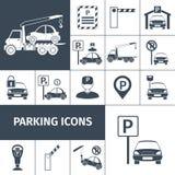 Σύνολο χώρων στάθμευσης διανυσματική απεικόνιση