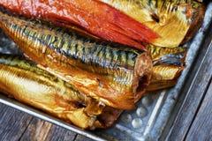 σύνολο ψαριών που καπνίζε& Στοκ φωτογραφίες με δικαίωμα ελεύθερης χρήσης