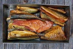 σύνολο ψαριών που καπνίζε& Στοκ Φωτογραφίες