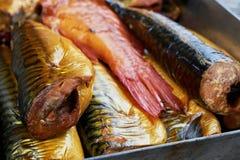 σύνολο ψαριών που καπνίζε& Στοκ Εικόνες