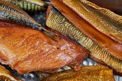 σύνολο ψαριών που καπνίζε& Στοκ Εικόνα