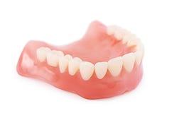 Σύνολο ψεύτικων δοντιών που απομονώνεται στο άσπρο υπόβαθρο Στοκ εικόνες με δικαίωμα ελεύθερης χρήσης
