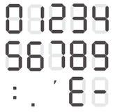 Σύνολο ψηφιακών αριθμών υπολογιστών ελεύθερη απεικόνιση δικαιώματος