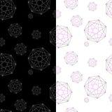 Σύνολο δύο γεωμετρικών σχεδίων κάτω από τη μάσκα αποστολής διανυσματική απεικόνιση
