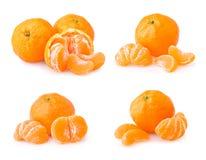 Σύνολο ώριμο tangerine με τις φέτες Στοκ φωτογραφίες με δικαίωμα ελεύθερης χρήσης