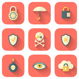 Σύνολο App εικονιδίων ασφάλειας Στοκ Εικόνα